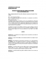 Arrêté Terre Gallian 25-09-20