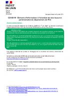 2021-07-06 Lettre d'informations